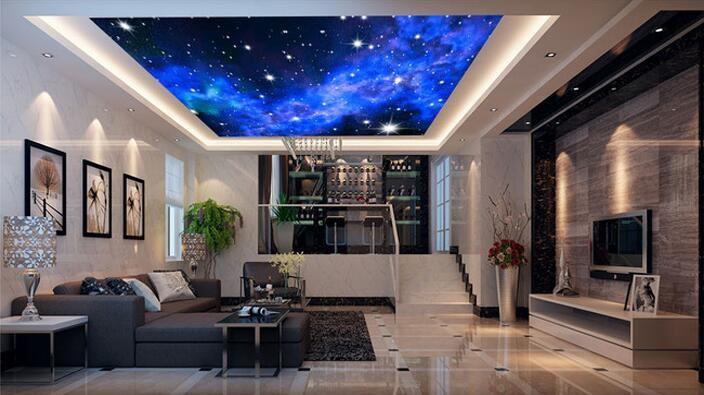 Niestandardowe zdjęcia tapety KTV 3D 5-gwiazdkowych Hoteli sen salon sypialnia sufit jasny sufit gwiazdy papier fototapetę malarstwo ścienne 6