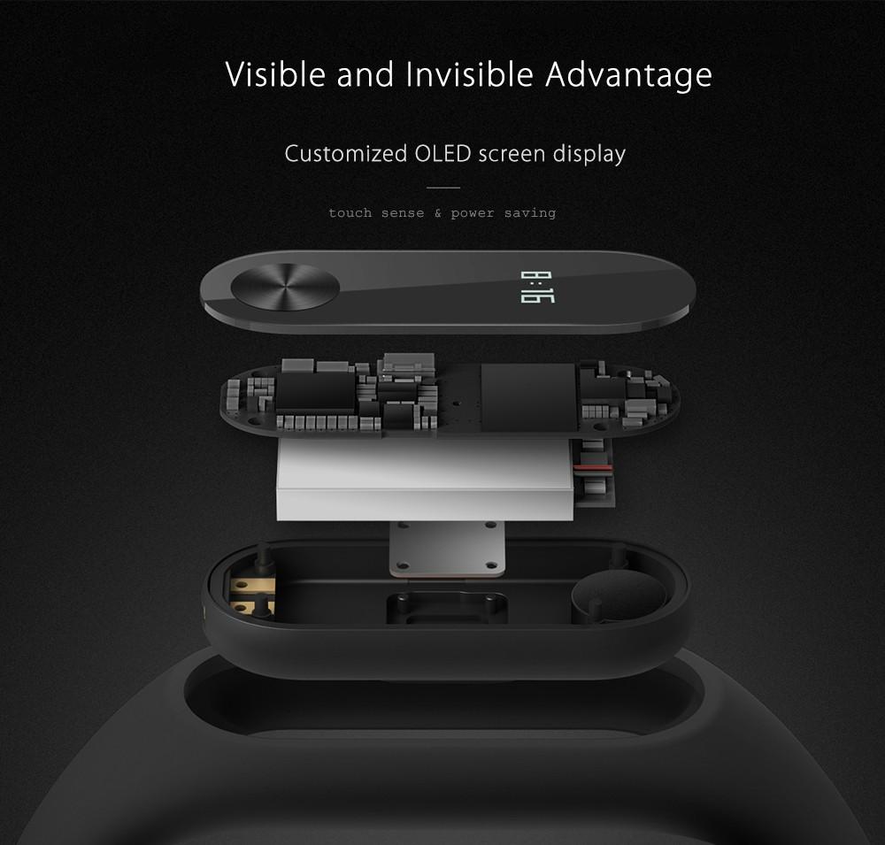 Originale xiaomi mi kompania 2 miband inteligentne centrum vigilanza del braccialetto del nadgarstek monitor oled sonno touchpad della frequ 13