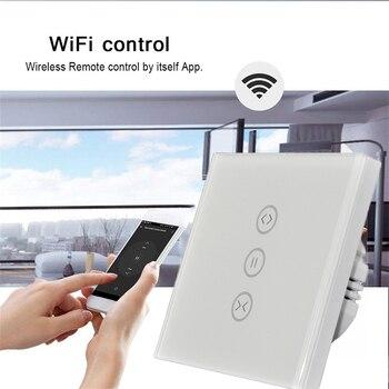 EU Curtain Touch Switch 220V for Roller Shutter motor WiFi Tuya