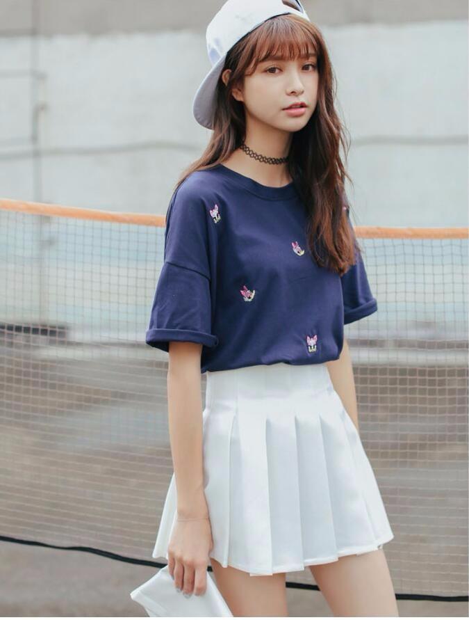 Elegant half pleated high waist mini skirt 2