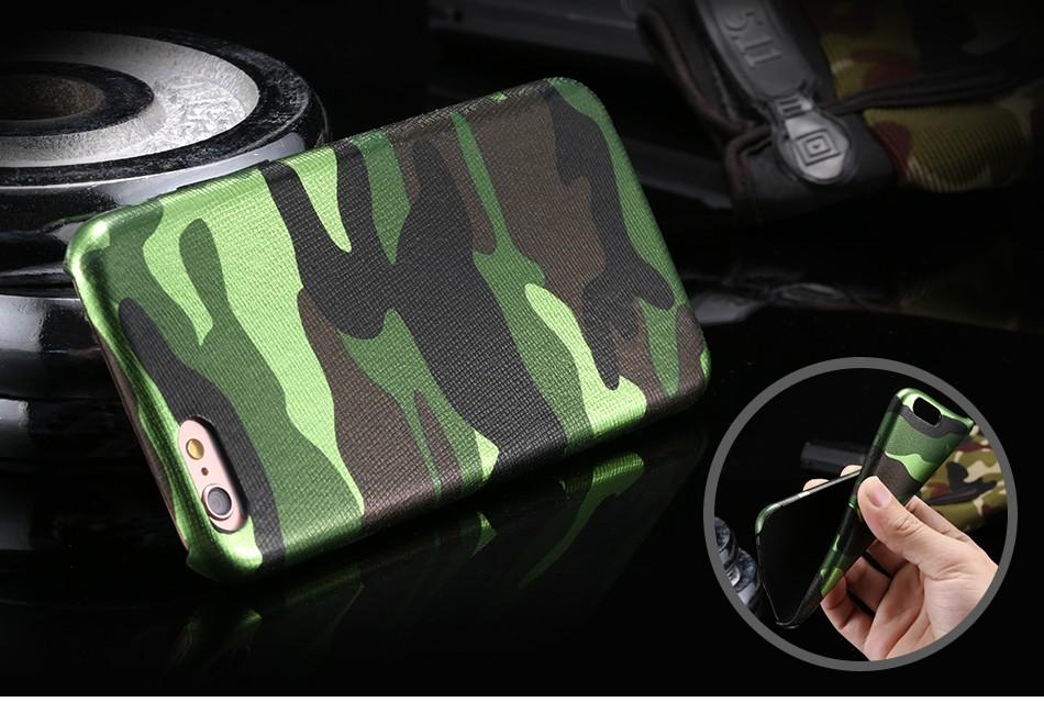 Dla iphone 7 5 5s se case wojskowy kamuflaż mężczyzn skórzane torby telefon sprawach dla iphone 7 7 plus pokrywa dla iphone 6 6s plus 5 5S se 1