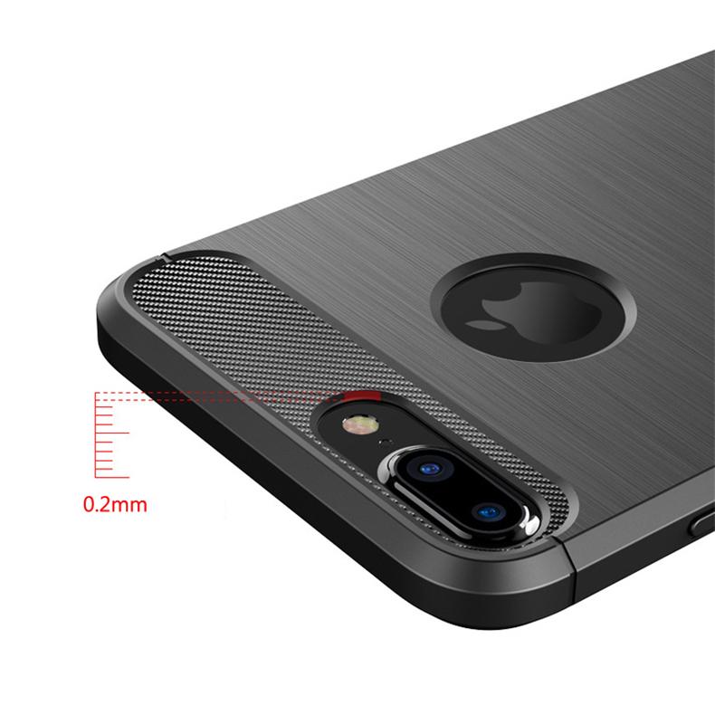 Luksusowe wstrząsoodporny telefon case for iphone 7 7 plus 6 6 s plus 5 5S se case new carbon fiber miękka tpu rysunek phone case back cover 10