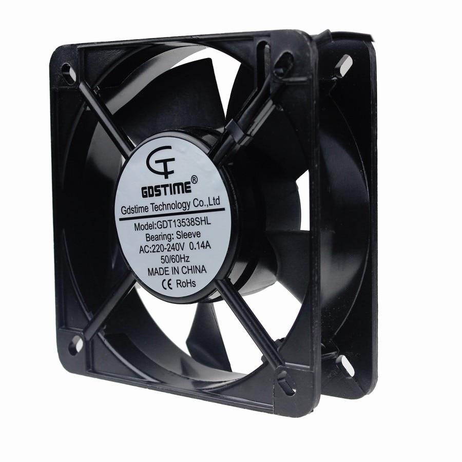 1Piece Gdstime 13538 220V 240V 135x135x38mm Big Metal Industrial Case AC Cooling Fan 14cm 130mm 135mm x 38mm