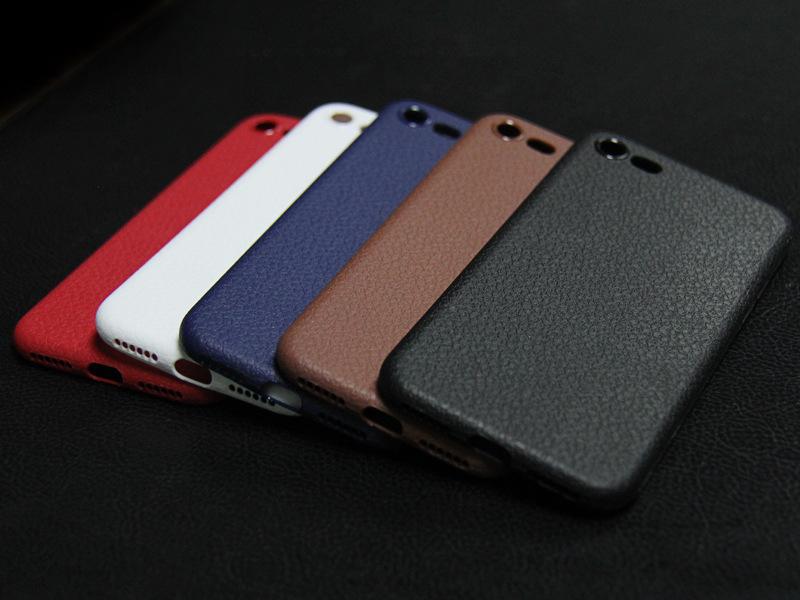 Dla iphone 7 plus iphone 7 case silicon ultracienkich tpu miękka skóra wzór case dla iphone 6 6s plus logo hole back cover czarny 23