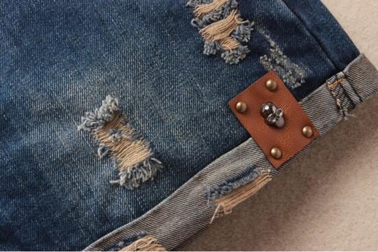 Vintage Club Denim Ripped Shorts 12