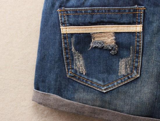 Vintage Club Denim Ripped Shorts 13