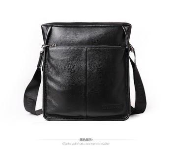 a881fed4d 100% GENUINE LEATHER cowhide Shoulder leisure men's bag business ...