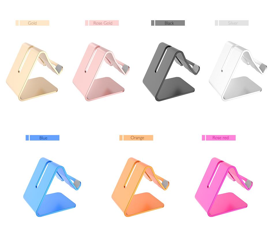 RAXFLY Uniwersalny Aluminium Metal Telefon Uchwyt Stojak Na iPhone 6 7 Plus Samsung Tabletka S8 Biurko Stojak Uchwyt Do Telefonu Inteligentnego Zegarka 12