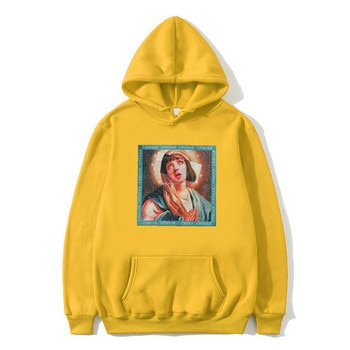 1e5f049ab5cc7 New Hot Sale Virgin Mary Print Men's Hoodie Funny Streetwear