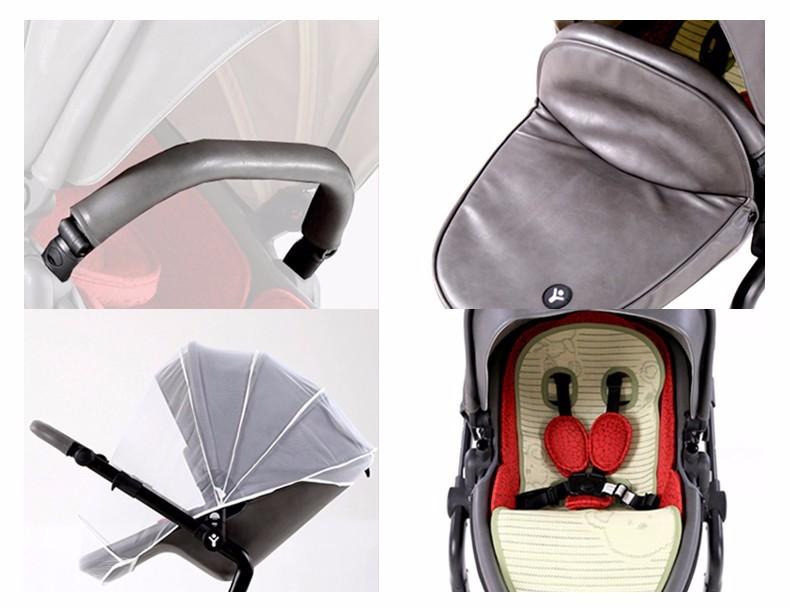 Foofoo wózka dziecięcego Wysokiej krajobrazu może zmienić na spania koszyk skóry 10