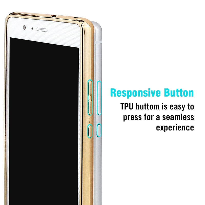 Poszycie telefon skrzynka dla huawei p9 lite pokrywa silikonowa ultra cienkie miękkie przezroczysty tpu tylna pokrywa dla huawei p9 lite luksusowe złota 6