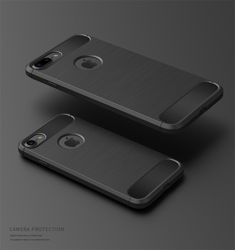Luksusowe wstrząsoodporny telefon case for iphone 7 7 plus 6 6 s plus 5 5S se case new carbon fiber miękka tpu rysunek phone case back cover 3