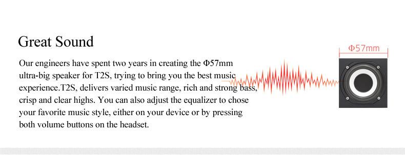 Bluedio t2s oryginalny mikrofon bezprzewodowy zestaw słuchawkowy stereo bluetooth słuchawki bluetooth 4.1 dla iphone samsung xiaomi htc 3