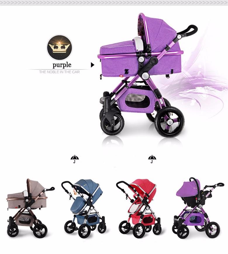 GoldenBaby wózka dziecięcego 2 w 1 3 w 1 szok składany składany newborn baby wózek Rosja darmowa wysyłka 7