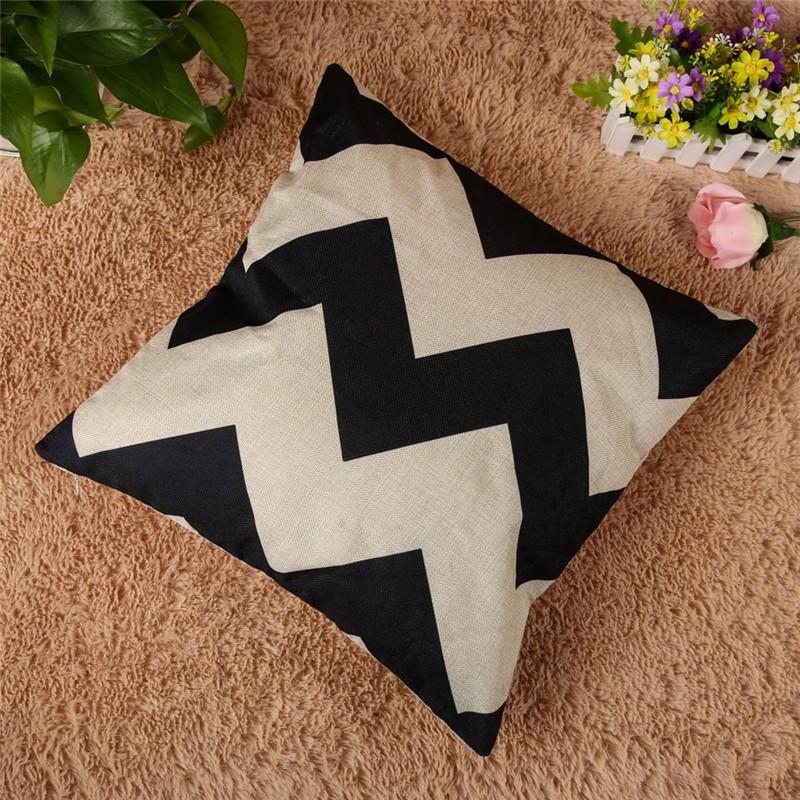 4 Types 45*45cm Vintage Fashion Cotton Linen Cushion Cover Throw Pillow Case Sofa Car Decor Cushion Cover 8