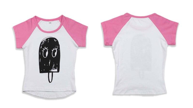 [100% Pozytywne Opinie] koszulka letnia dla dzieci 2017 dzieciak odzieży dziecko ice cream wzór t shirt chłopcy dziewczyny top tees znosić 11