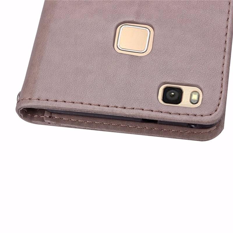 Cztery Liść Koniczyny Skrzynka dla Huawei P9 Okładka Huawei P9 Lite odwróć Wallet Case dla Huawei Hoesjes P9 Plus Telefon Coque PU skóra 6