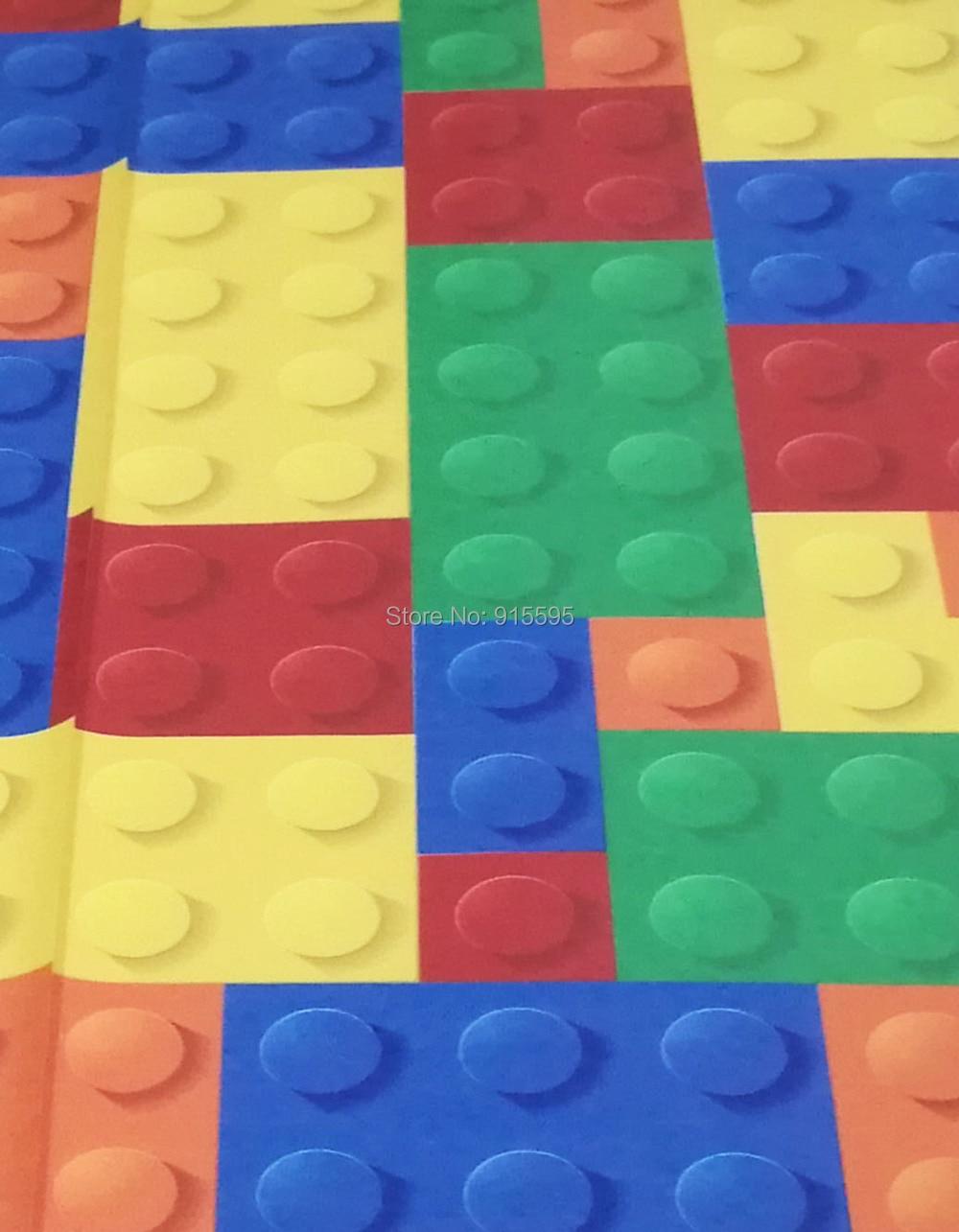 Rozmiar niestandardowy 3d malowidła ścienne tapety do salonu sypialnia dla dzieci sklep z zabawkami lego bricks włókniny mural tapety wystrój 7