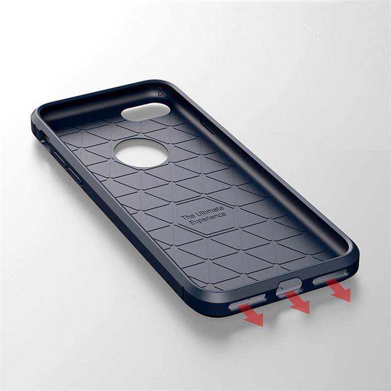 Luksusowe wstrząsoodporny telefon case for iphone 7 7 plus 6 6 s plus 5 5S se case new carbon fiber miękka tpu rysunek phone case back cover 11