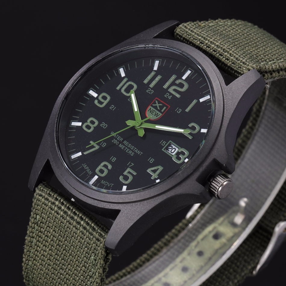 Fantastyczny xinew luksusowe boisko sportowe mężczyzna zegarka kalendarz data mens steel analogowe kwarcowy zegarek wojskowy erkek relogioi kol saat 13