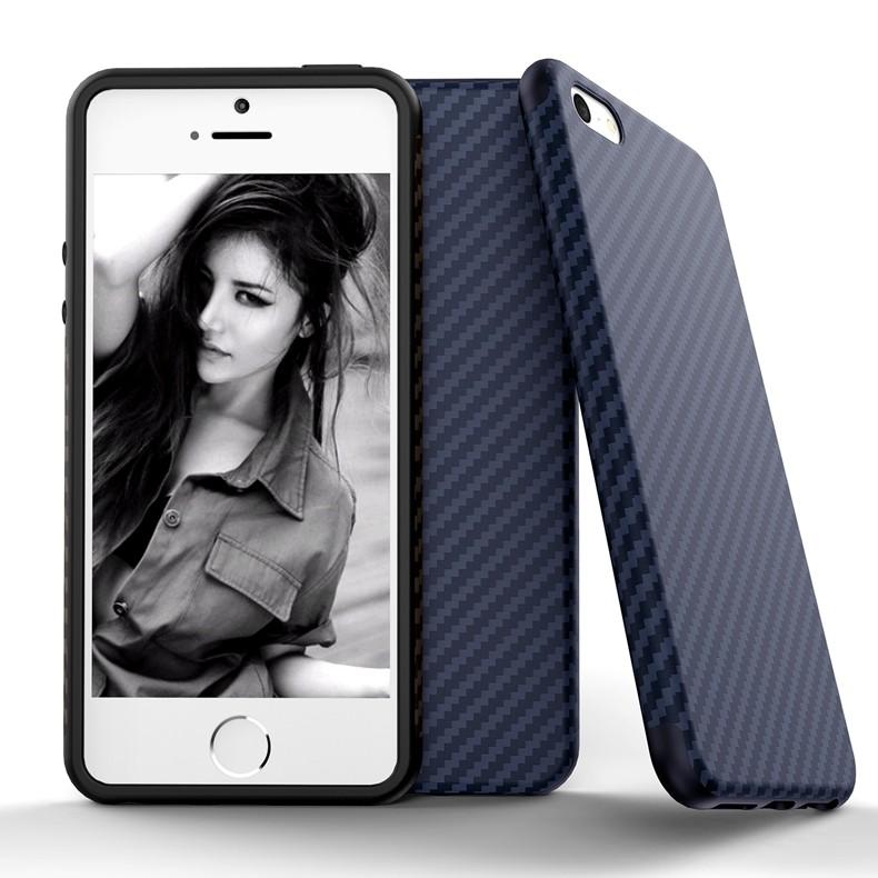 Luksusowe Elegent Wysokiej Jakości Włókna Węglowego Miękki Futerał Dla iPhone 5 5S SE Skórzana Skóry Tekstury Opon 3D Obrońca Pokrywa Dla iPhone SE 18