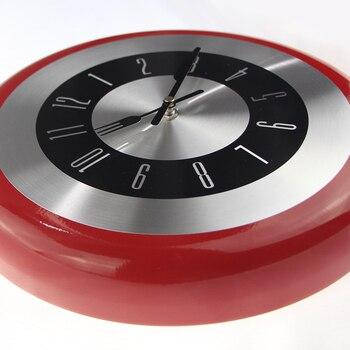 Creativo Reloj de pared de Metal sartén diseño