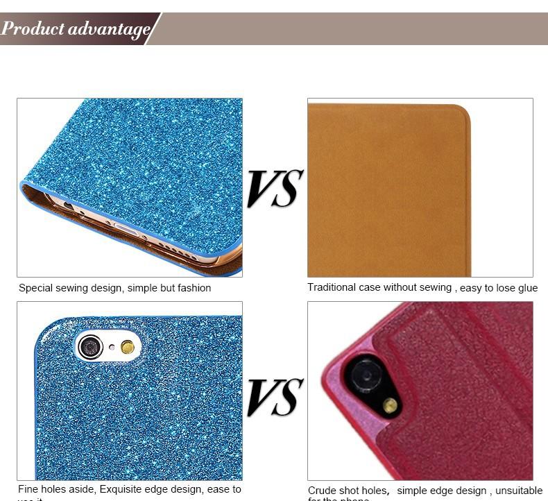 Kisscase dla iphone 5s case glitter bling skórzane etui dla iphone 5 5s se 6 6 s 7 plus stań portfel pokrywa dla iphone 7 7 plus SE 8