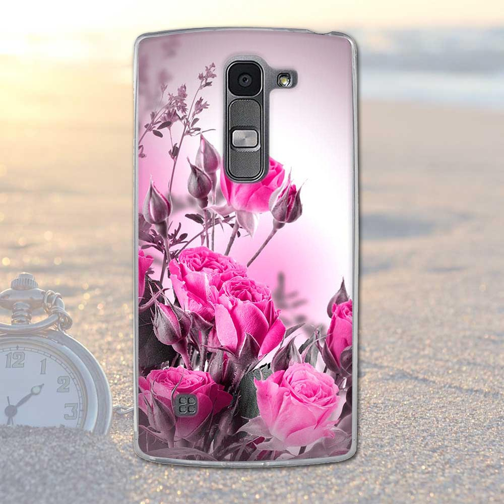 Fundas telefon case pokrywa dla lg spirit 4g lte h440y h422 h440n h420 miękka tpu kwiaty zwierzęta dekoracje telefon pokrywa dla lg duch 3