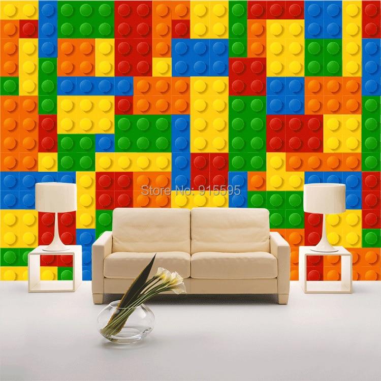 Rozmiar niestandardowy 3d malowidła ścienne tapety do salonu sypialnia dla dzieci sklep z zabawkami lego bricks włókniny mural tapety wystrój 4