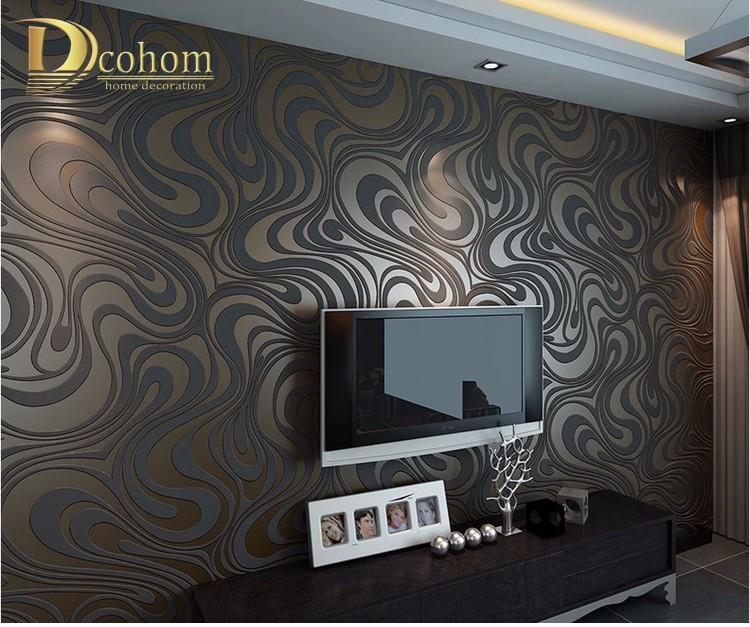 Wysokiej jakości 0.7 m * 8.4 m nowoczesny luksus 3d tapety rolki mural papel de parede uciekają na paski ściany papier 5 kolor r136 11