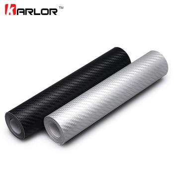 127cmx20cm Car Styling 3D Carbon Fiber Vinyl Wrap Roll Film Auto