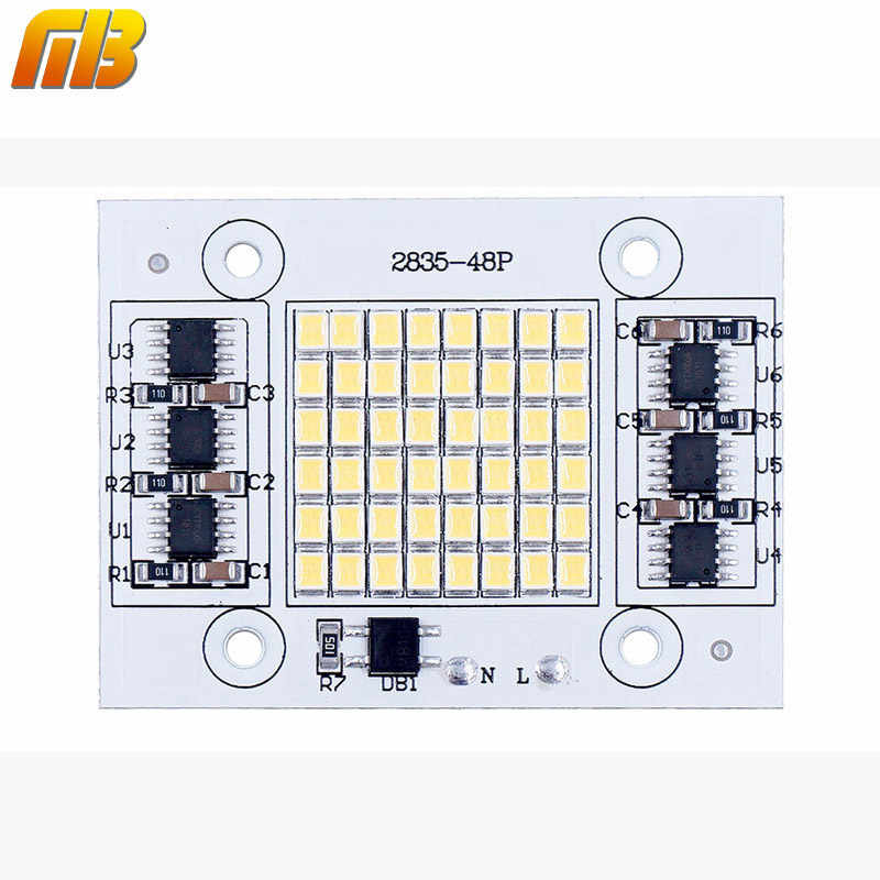 DIY LED SMD Chip Lamp 20W 30W 50W Light Chip 230V Input Directly Smart IC Fit For DIY FloodLight Spotlight Cold White Warm White