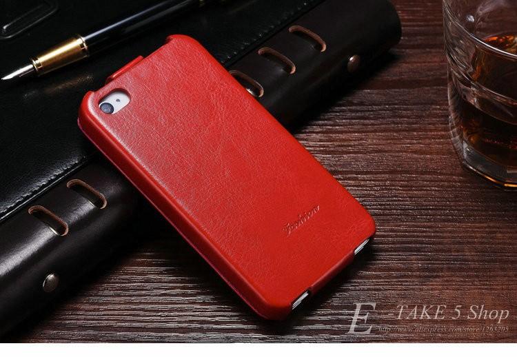 Pokrowiec case dla iphone 4 4s pu skóra pokrywa telefonu torba coque dla apple iphone 4s case luksusowe biznes styl tomkas 7