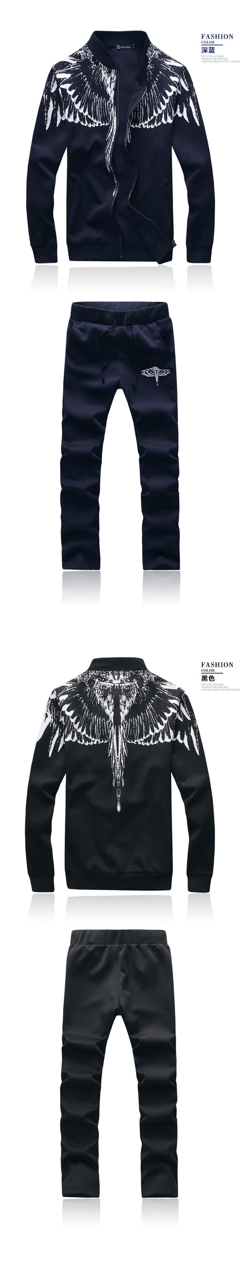 Marka-Odzież Dres Dorywczo SportSuit Męskie Odzieży Męskiej Mody Wiosna/Jesień Bluzy/Bluzy Żakiet + Spodnie Dres Polo 2016 5