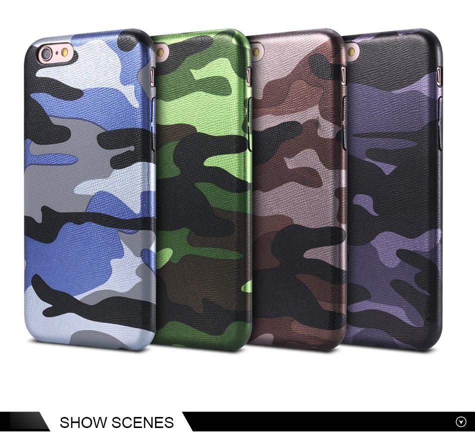Dla iphone 7 5 5s se case wojskowy kamuflaż mężczyzn skórzane torby telefon sprawach dla iphone 7 7 plus pokrywa dla iphone 6 6s plus 5 5S se 8