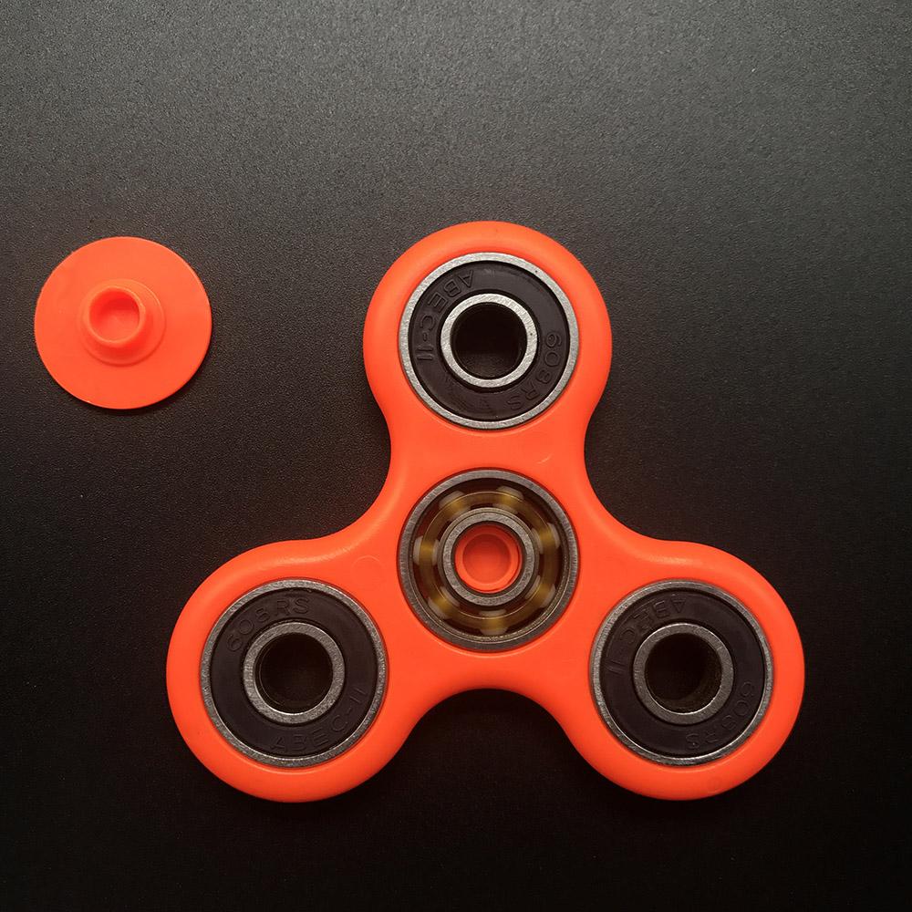 7 Kolory Koraliki Ceramiczne EDC Tri-Spinner Z Tworzywa Sztucznego Ręcznie Fidget Spinner Spinner Dla Autyzmu i ADHD Długi Czas Anty stres Zabawki 7