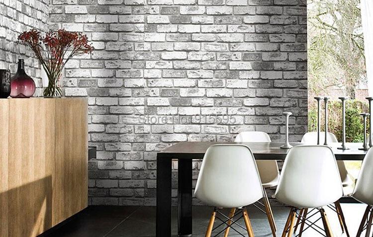 Nowoczesne vintage cegły kamienia pokoju tapety mural 3d winylu wodoodporna tłoczone tapety rolka papel de parede home decor 10 m 6