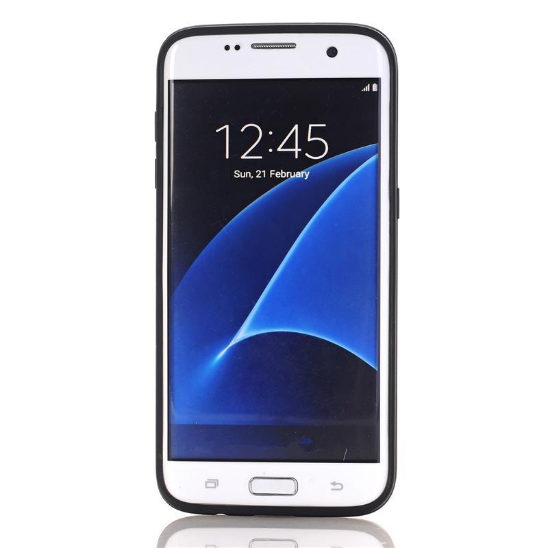 Zbroja slajdów credit card case do samsung galaxy s3 s4 s5 S6 S7 krawędzi Slot Portfel Shock Proof Skóry Twardego Plastiku + TPU Pokrywy Shell 6