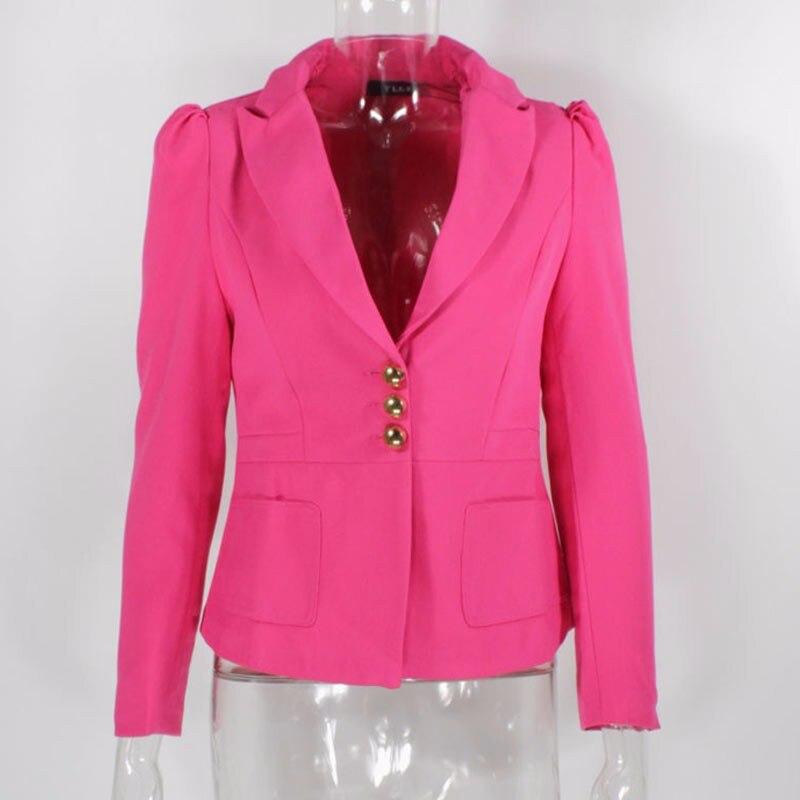 RealShe 2016 Kobiet Kurtki Długi Rękaw Garnitur Marynarka damska Marynarka Casual Mujer Feminina Plus Size Blazer Feminino Kurtki 56