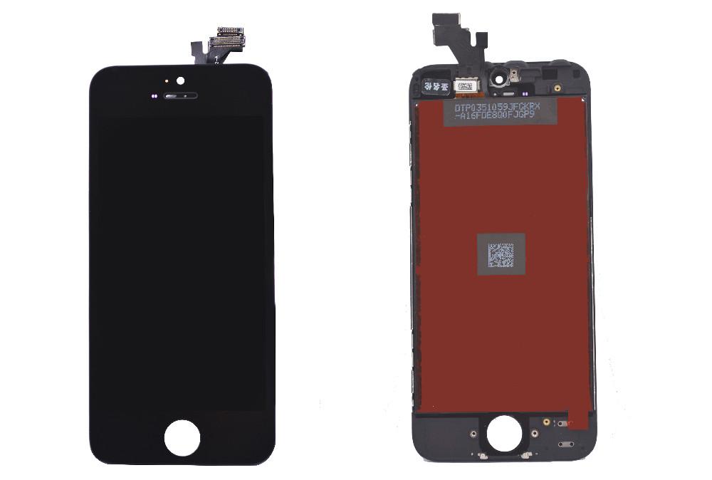 Czarny gwarancja 100% aaa wymiana wyświetlacza dla iphone 5 iphone 5c iphone 5s lcd z ekranem dotykowym digitizer pełna zgromadzenia 6