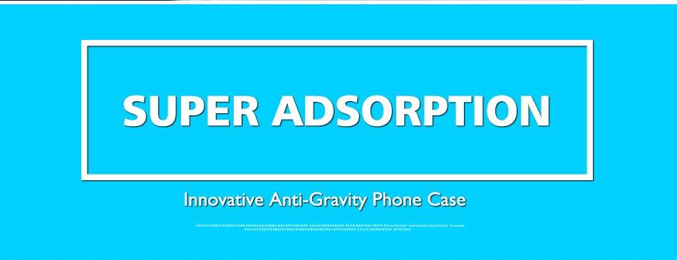 Anti-gravity case dla apple iphone 7 plus 6 6 s plus 5 5S se pokrywa dla samsung galaxy s6 s7 edge samsung s8 plus przypadki huawei p9 2