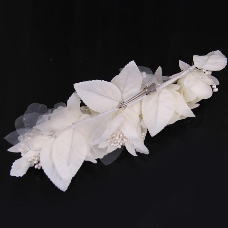 Elegant Bride Flower Pearl Wedding Charming Hair Clips 3