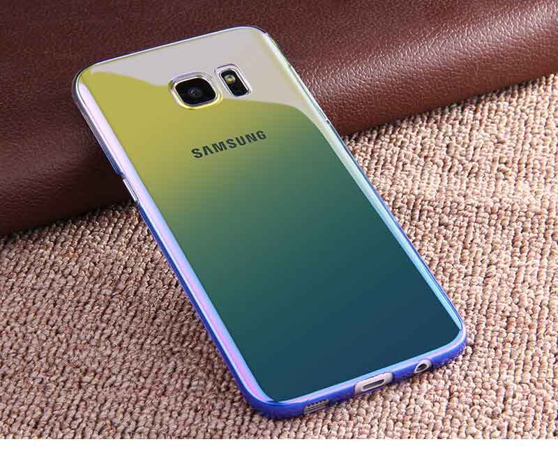 Kolorowe case do samsung galaxy s7 edge s8 plus s8 case gradientu kolor pc mocno plecy pokrywa dla samsung s8 s7 krawędzi case artisome 18