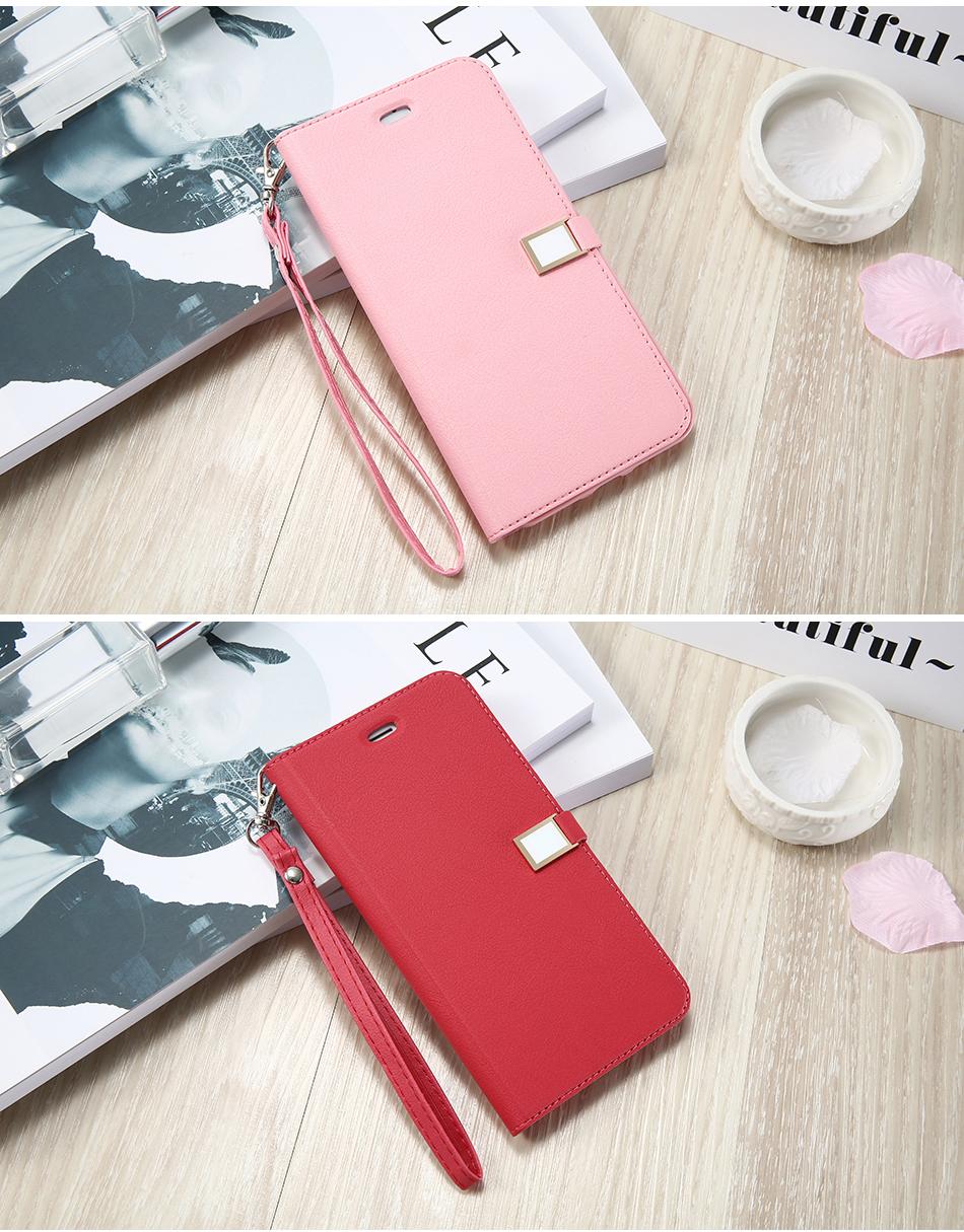 Kisscase candy kolor skóry case dla iphone 7 7 plus odwróć karty portfel slot case pokrywa dla iphone 6 6s plus 5S 5c 4S z logo 12