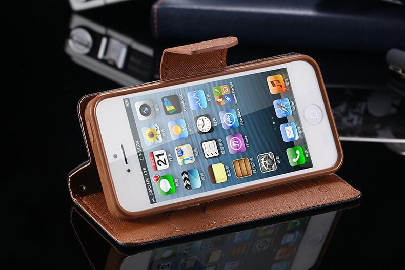 Podwójny kolor klapki skóra telefon torba case dla iphone 6 7 6 s plus 5 5S se gniazda kart + stojak kabura pokrowiec case dla iphone 7 6 6 s 38