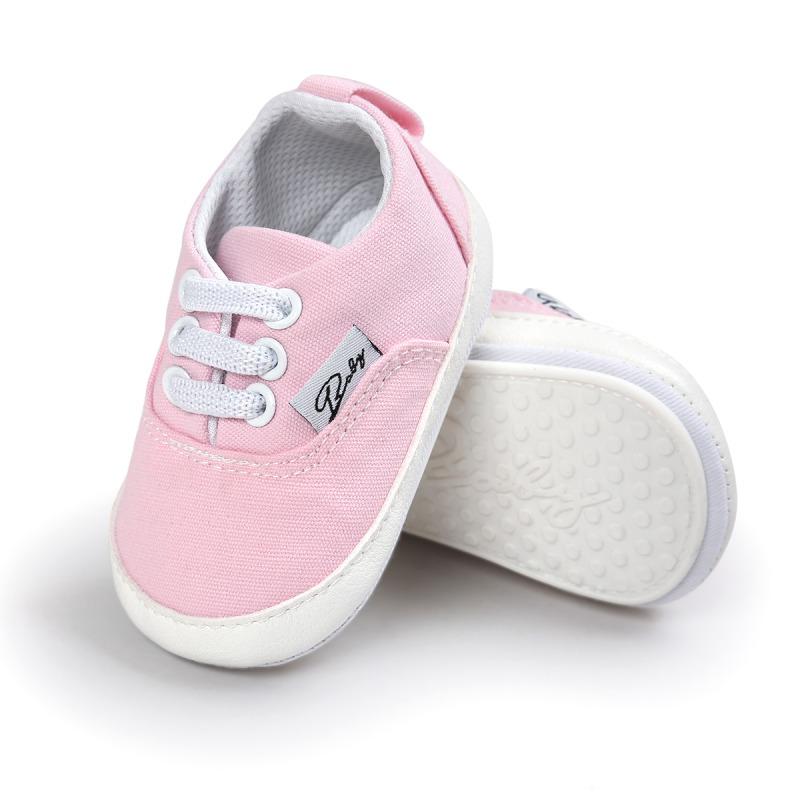 Wiosna Jesień Dziecko Noworodka Dziewczynka Chłopiec Miękkie Podeszwy antypoślizgowe Maluch Prewalker Niemowląt Sneaker Buty Na Co Dzień 34