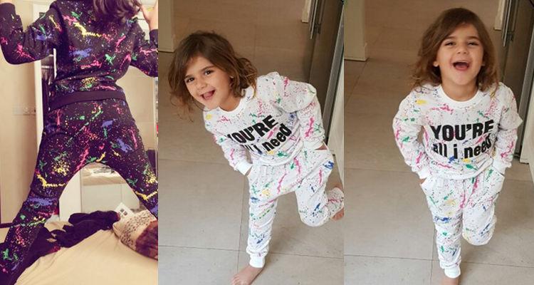 Ali Królik 2 SZTUK topy + spodnie Toddler dziewczyna odzież kolorowe drukowanie dziewczyny ubrania dres dziewczynek dzieci 2 3 4 5 lat 7 tkaniny 5