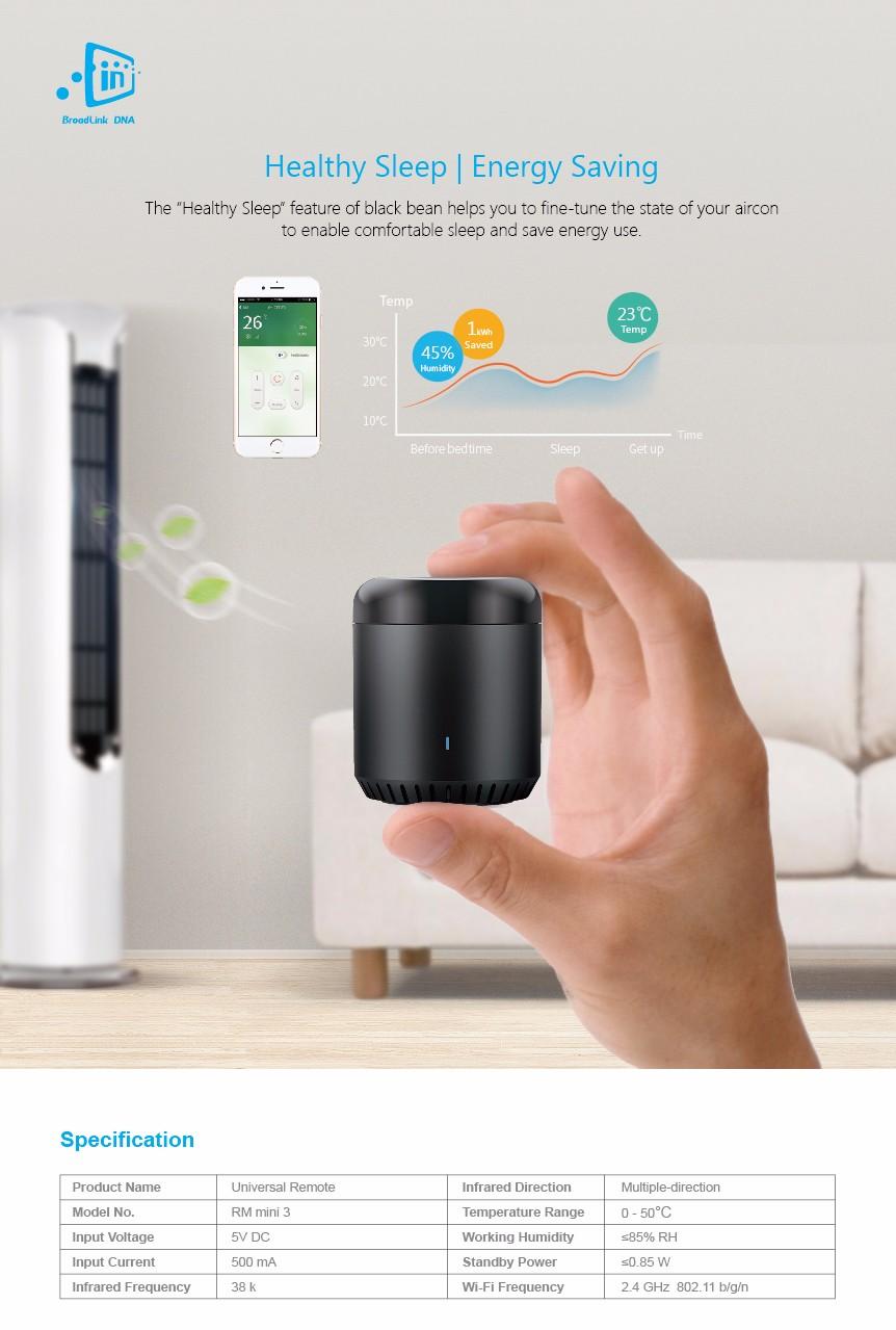 Broadlink RM3 RM Pro/RM mini3 Automatyki Inteligentnego Domu Uniwersalny Inteligentny Pilot WIFI + IR + RF Przełącznik dla iOS Android 26