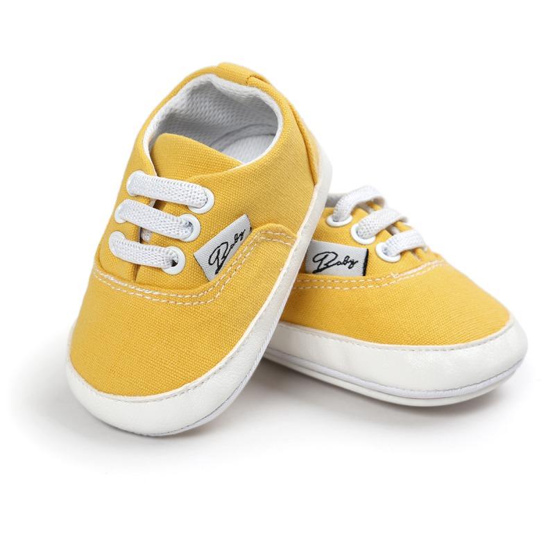 Wiosna Jesień Dziecko Noworodka Dziewczynka Chłopiec Miękkie Podeszwy antypoślizgowe Maluch Prewalker Niemowląt Sneaker Buty Na Co Dzień 43