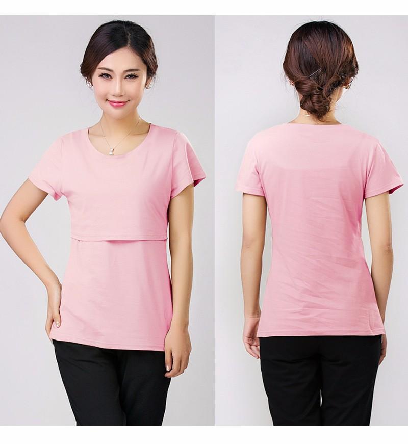 2016 lato macierzyństwo pielęgniarstwa ubrania kobiet w ciąży karmienie piersią karmienie piersią nakrywa trójniki t-shirt maxi premama nosić clothing 17